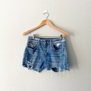 American Eagle Med Wash Frayed Hem Shorts Size 2